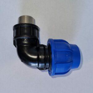 Irritec PE-Verschraubung Connecto™ + ULTRA PN16 25 mm Winkel mit Messing Aussengewinde