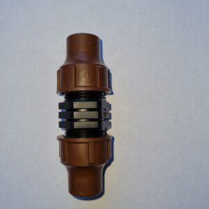 Rohrverbinder mit Überwurfverschraubung für 16mm Rohre und Tropfsysteme